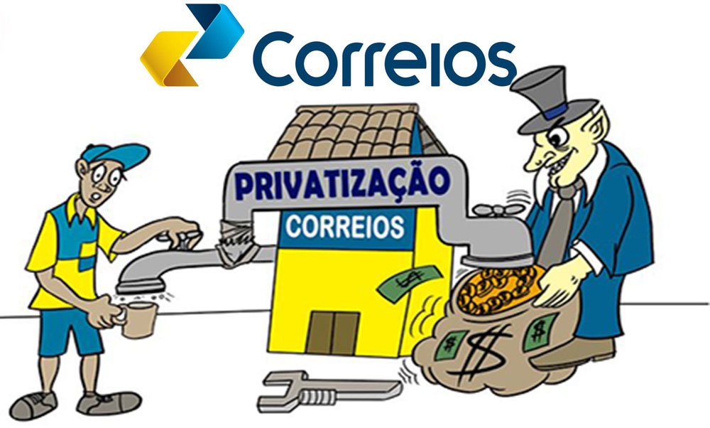 Resultado de imagem para privatização dos correios charges