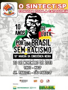 """SINTECT-SP realiza """"10ª Marcha da Consciência Negra"""""""