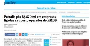 Postalis pôs R$ 570 mi em empresas ligadas a suposto operador do PMDB