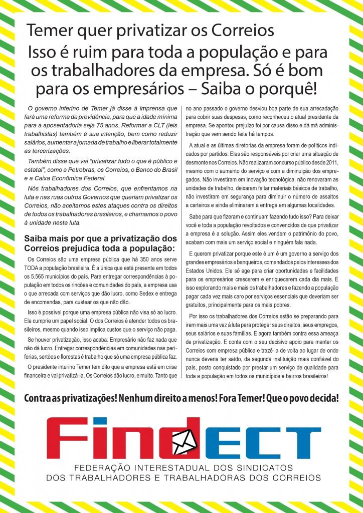 24ffaccaf8b97 CARTA ABERTA À POPULAÇÃO  POR QUE SOMOS CONTRA A PRIVATIZAÇÃO