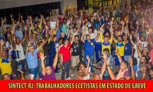 SINTECT-RJ: ECETISTAS APROVAM ESTADO DE GREVE EM ASSEMBLEIA