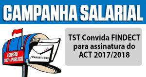 TST Convida FINDECT para assinatura do ACT 2017/2018