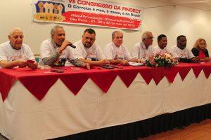 Presidente da Postal Saúde é sabatinado por dirigentes sindicais no VII Congresso da FINDECT