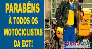 FINDECT PARABENIZA TODOS E TODAS MOTOCICLISTAS DOS CORREIOS