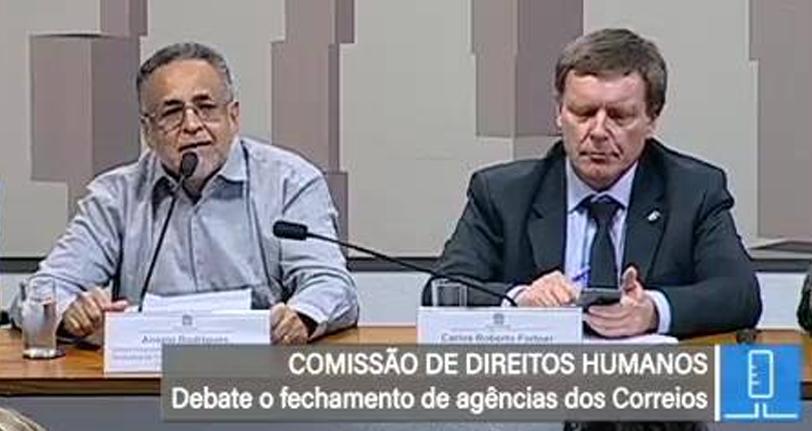 Videos – Audiência Pública sobre o fechamento de agências e demissões nos Correios – CDH/Senado