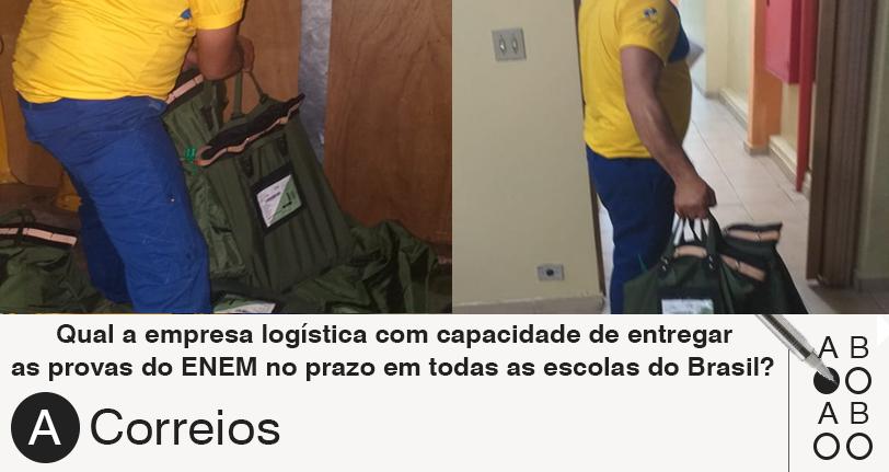 Domingo de ENEM: Se privatizar os Correios, logística e aplicação das provas estarão comprometidas