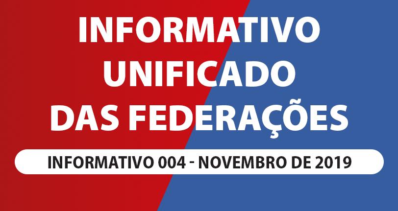INFORME UNIFICADO DAS FEDERAÇÕES