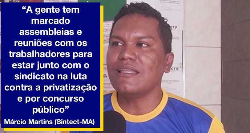 Sintect-MA: Trabalhadores dos Correios realizam assembleias por local de trabalho