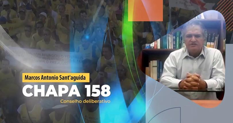 Vídeo – Eleições Postalis 2020: Marcos Antônio Sant' Aguida, Chapa 158 concorre ao Conselho Deliberativo
