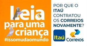 Itaú contrata Correios para entrega de livros. Privatizar porquê?