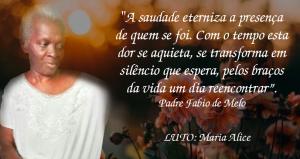 Nota de pesar pelo falecimento de Maria Alice, mãe do Diretor Elias Orlando