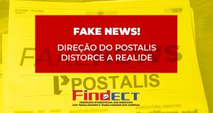 Direção do Postalis divulga Fake News sobre federações