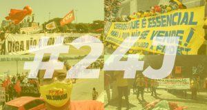 Mobilização em todo país leva trabalhadores às ruas para defender os Correios, exigir vacina, auxílio emergencial, emprego e impeachment do Bolsonaro