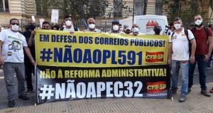 SINTECT-SP participa da mobilização do Dia Nacional de luta contra a PEC 32